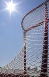 Roller Hockey Net. A net in an outdoor roller hockey rink Stock Photo