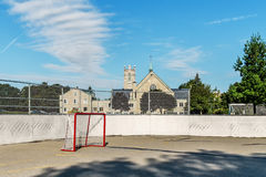 Roller hockey rink Royalty Free Stock Photo
