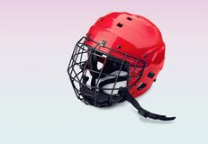Roller hockey. Ice hockey helmet equipment ice mask sport royalty free illustration