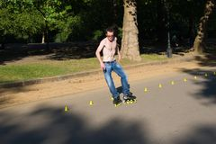 Roller on Hyde Park, London. Royalty Free Stock Photography