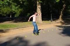 Roller on Hyde Park, London. Stock Image
