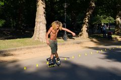 Roller on Hyde Park, London. Royalty Free Stock Image