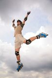 Roller jump in sky Royalty Free Stock Photos