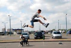 Roller jumper. Royalty Free Stock Image