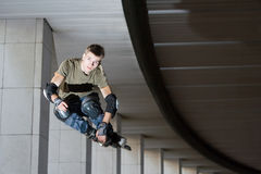 Roller jumping royalty free stock photography