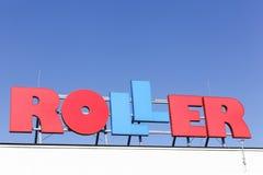 Roller logo on a building Stock Photos