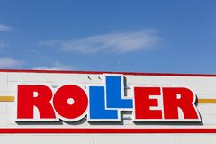 Roller logo on a wall of a store Stock Image