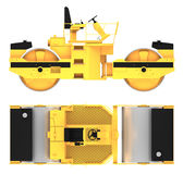 Roller machine 3d rendering. Roller machine side and top view 3d rendering Royalty Free Stock Photos