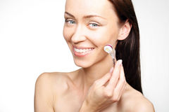 Roller ,microneedle mesotherapy, rejuvenating treatment Stock Photo