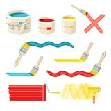 Roller And Paint Brushes Royalty Free Stock Images