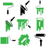 Roller and paint icons Royalty Free Stock Images