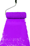 Roller With Purple Paint Royalty Free Stock Photo