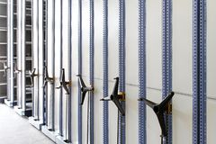 Roller Racking Shelves royalty free stock photography