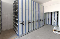 Roller racking system Stock Photography