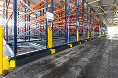 Roller racking systems Royalty Free Stock Photos