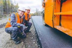Roller road repair Stock Image