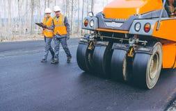Roller road repair Stock Photo