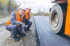 Roller road repair Royalty Free Stock Image