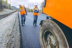 Roller road repair Stock Photos
