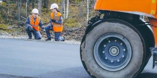Roller road repair Royalty Free Stock Photos