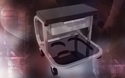 Roller seat with drawer Stock Photography