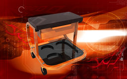 Roller seat with drawer Royalty Free Stock Photo