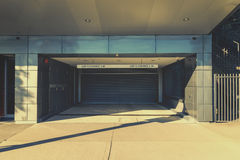 Roller shutter building entrance Royalty Free Stock Photo
