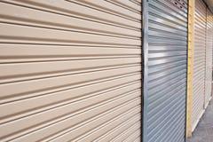 Roller shutter door of front gate Stock Images