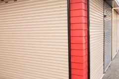 Roller shutter door of front gate Stock Photo