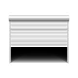 Roller shutter garage door Royalty Free Stock Images
