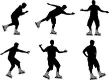 Roller silhouettes Stock Images