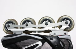 Roller skate. Shoe with wheeels Royalty Free Stock Images