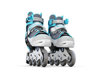 Roller skate close-up. Isolated on white background. 3d illustration vector illustration