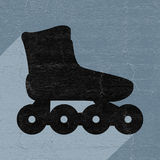 Roller skate flat icon Stock Photo
