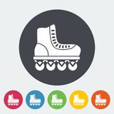 Roller skate flat icon Stock Image