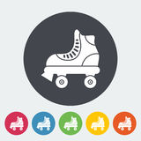 Roller skate flat icon Royalty Free Stock Photos