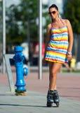 Roller skate girl Stock Photography