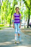Roller skate girl Royalty Free Stock Photo