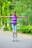 Roller skate girl Royalty Free Stock Photo