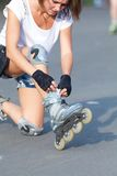 Roller skate girl skating. Royalty Free Stock Image