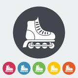 Roller skate flat icon Royalty Free Stock Photography