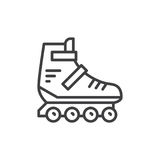 Roller skate line icon, outline vector sign Royalty Free Stock Photography