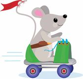 Roller Skate Mouse Royalty Free Stock Photo