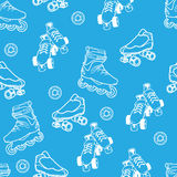Roller skate pattern Stock Photography