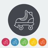 Roller skate. Icon. Thin line flat vector related icon for web and mobile applications. It can be used as - logo, pictogram, icon, infographic element. Vector royalty free illustration