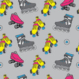 Roller skate seamless pattern Royalty Free Stock Photography