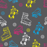 Roller skate seamless pattern Stock Images