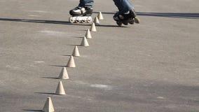 Roller-skate. Roller-skating