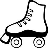 Roller skate vector illustration Stock Photos