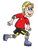 Roller Skater. Color illustration of smilling skater Royalty Free Stock Images